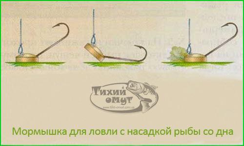 Мормышка для ловли с насадкой рыбы со дна