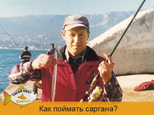Как поймать саргана?