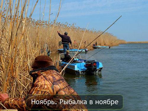 Ноябрь. Рыбалка в ноябре