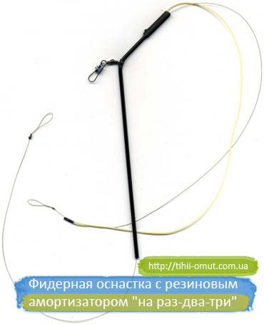Фидерная оснастка с резиновым амортизатором