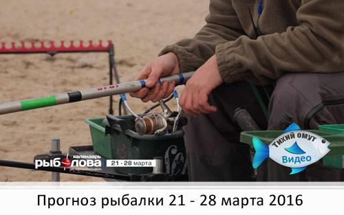Календарь рыболова с 21 марта по 28 марта 2016