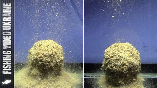 Как влияет сито на поведение прикормки в воде