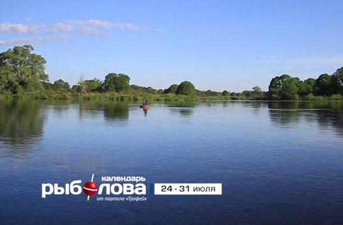 Календарь рыболова с 24 по 31 июля 2017