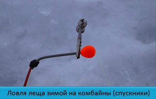 Ловля леща зимой на комбайны (спускники)
