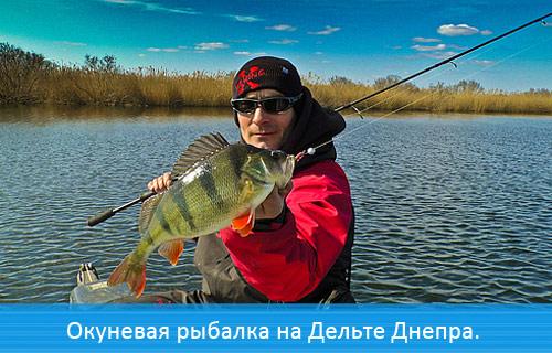 Окуневая рыбалка с Чемпионами на Дельте Днепра