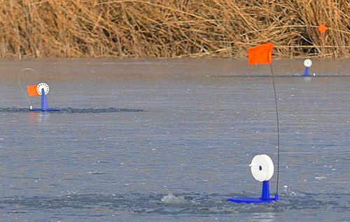 Щука на жерлицы, разведка по тонкому льду