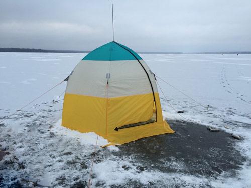 Зимняя рыбалка с ночёвкой.