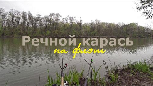 Флэт фидер весной: речной карась.