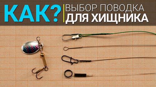Как выбрать поводок для ловли хищника?