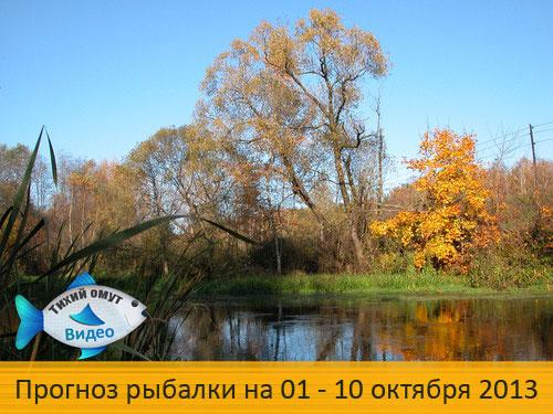 Прогноз рыбалки на 01 - 10 октября 2013