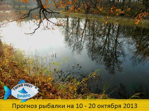 Прогноз рыбалки на 10 - 20 октября 2013